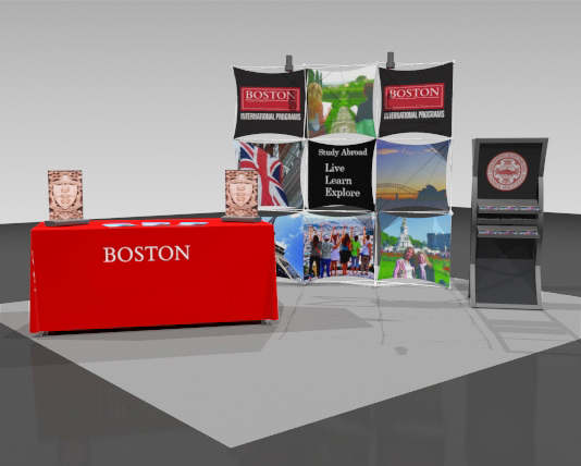 Exhibit Displays, 10x10 displays, The Exhibit Source, Full-scale custom portable display, Boston, MA, trade show display