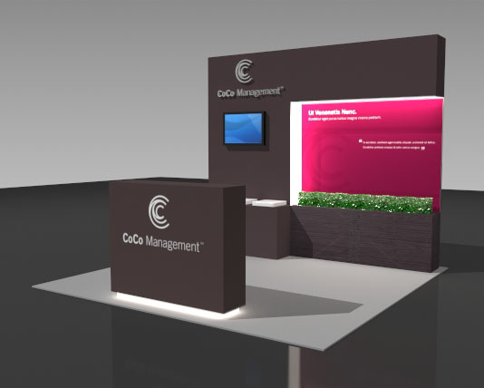 Portable Expo Stands : Foot portable trade show booths displays exhibits